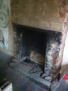 The original fire place has been stripped out.